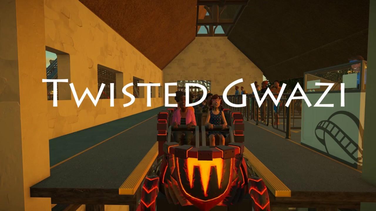 Planet Coaster- Twisted Gwazi - YouTube