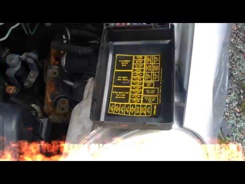 Daewoo Matiz relays fusebox - YouTube on