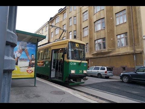 Helsinki tramway (HKL): line 10 (Pikku-Huopalahti ➔ Kirurgi) FULL RIDE