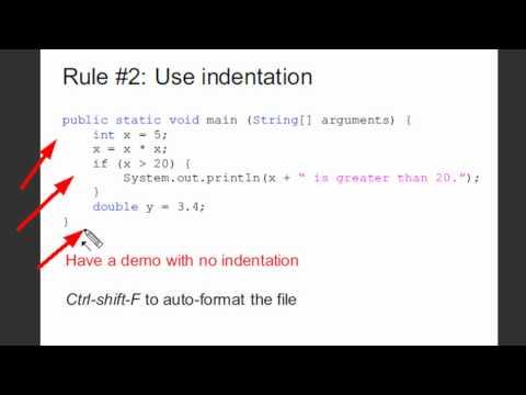 Java Programming 16: Good Programming Tips