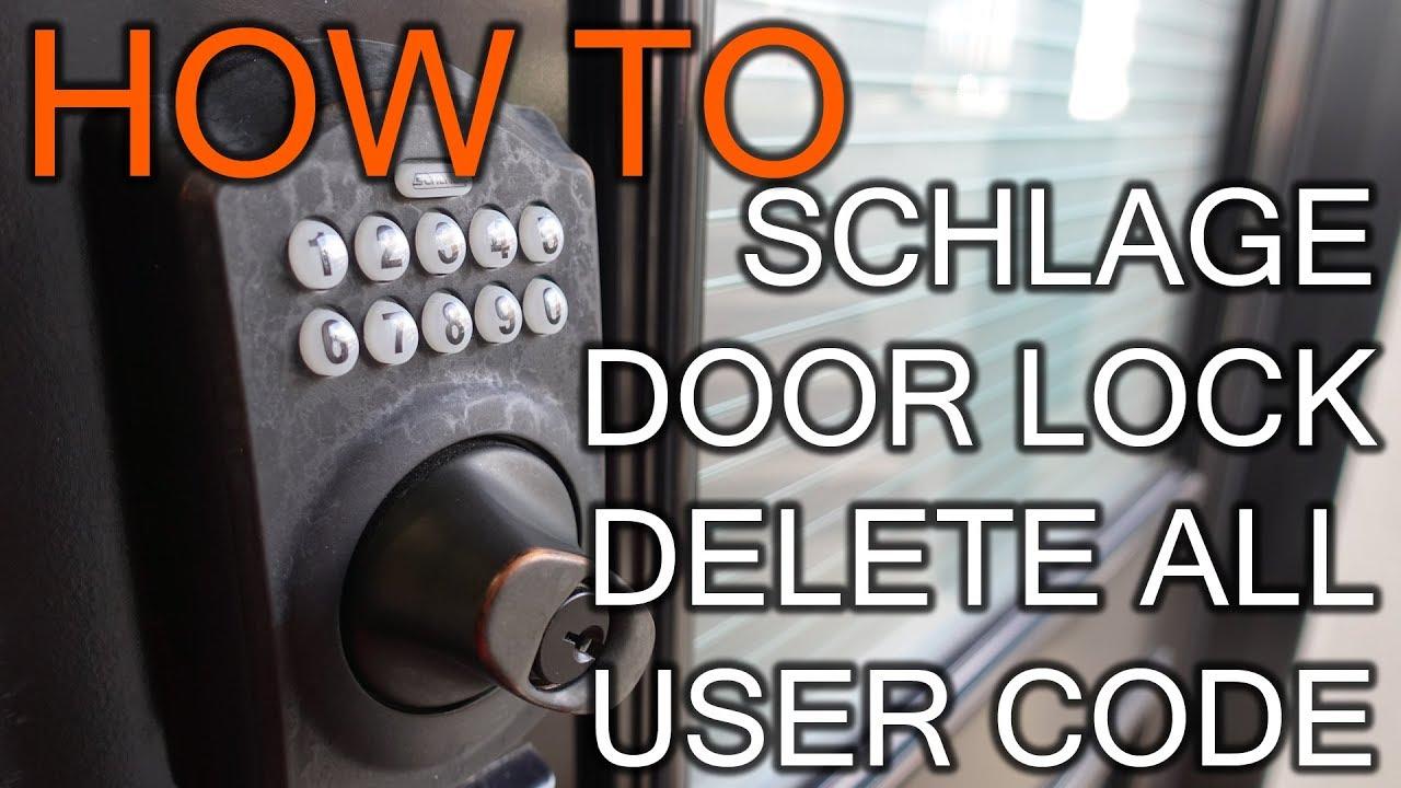 How To Change Programming Code On Schlage Door Lock You