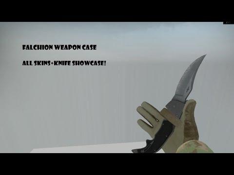 CS:GO | Falchion Case Weapons + Knife Showcase! [1080p]