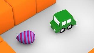 Lehrreicher Zeichentrickfilm - Die 4 kleinen Autos - Wir suchen Ostereier!
