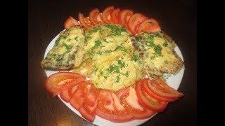 Запеченная щука в духовке.рыба в духовке с картофелем. легко и просто.