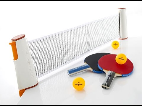 artengo rollnet adjustable table tennis net youtube. Black Bedroom Furniture Sets. Home Design Ideas