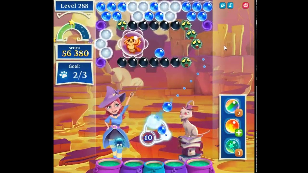 Bubble Witch Saga 2 Level 288 - YouTube