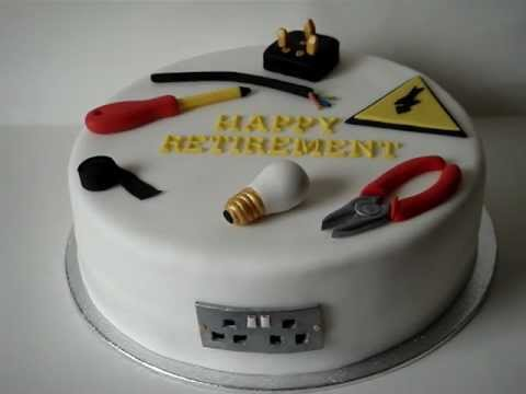 Electrician Retirement Cake Youtube