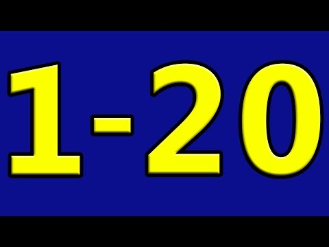 Simple Learning to Count to 20 Counting 1 to 20 Numbers for Toddlers Preschool Kids Children