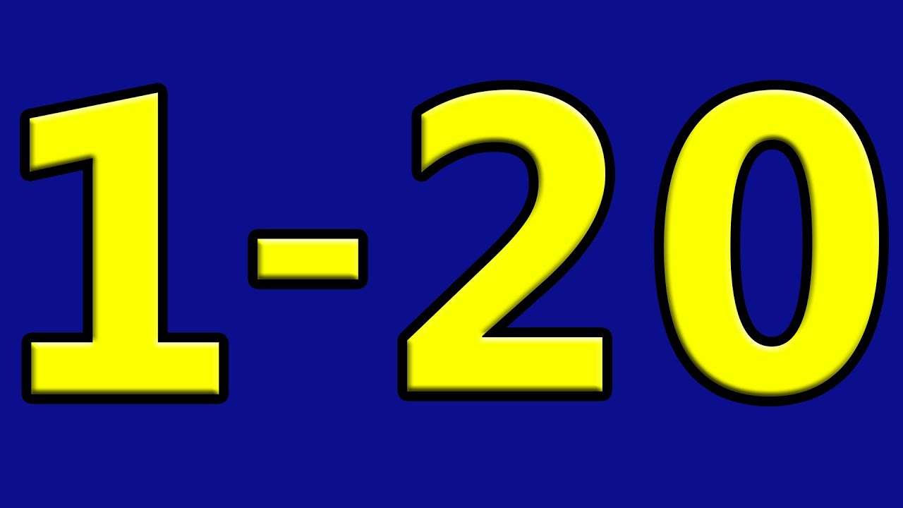 Simple Learning to Count to 20 Counting 1 to 20 Numbers for ...