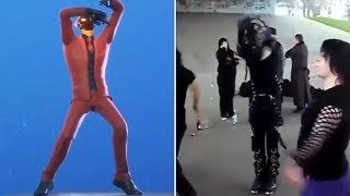 Fortnite Dances in Real Life that are 100% in Sync..! (Infectious Dance)