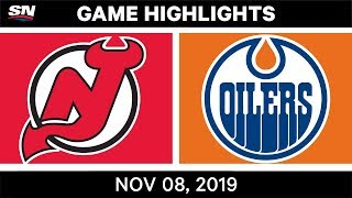 NHL Highlights   Devils vs Oilers – Nov. 8, 2019