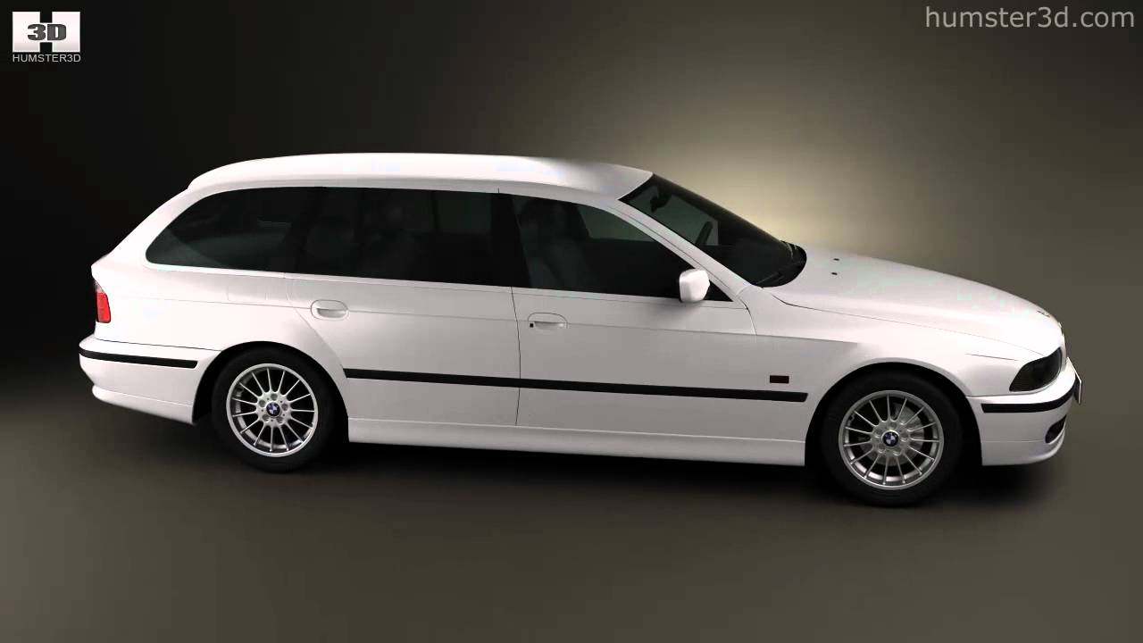 bmw 5 series e39 touring 1995 2003 by 3d model store youtube. Black Bedroom Furniture Sets. Home Design Ideas