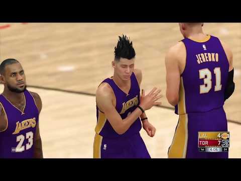 NBA 2K17 Asian sensation Yi Jianlian and Dirk Lakers get revenge vs Toronto