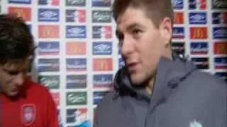 Steven Gerrard Fall Over (Live Interview)