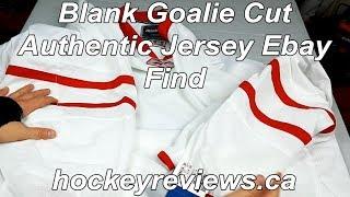 Ebay Find! Blank Reebok Authentic Goalie Cut Jersey