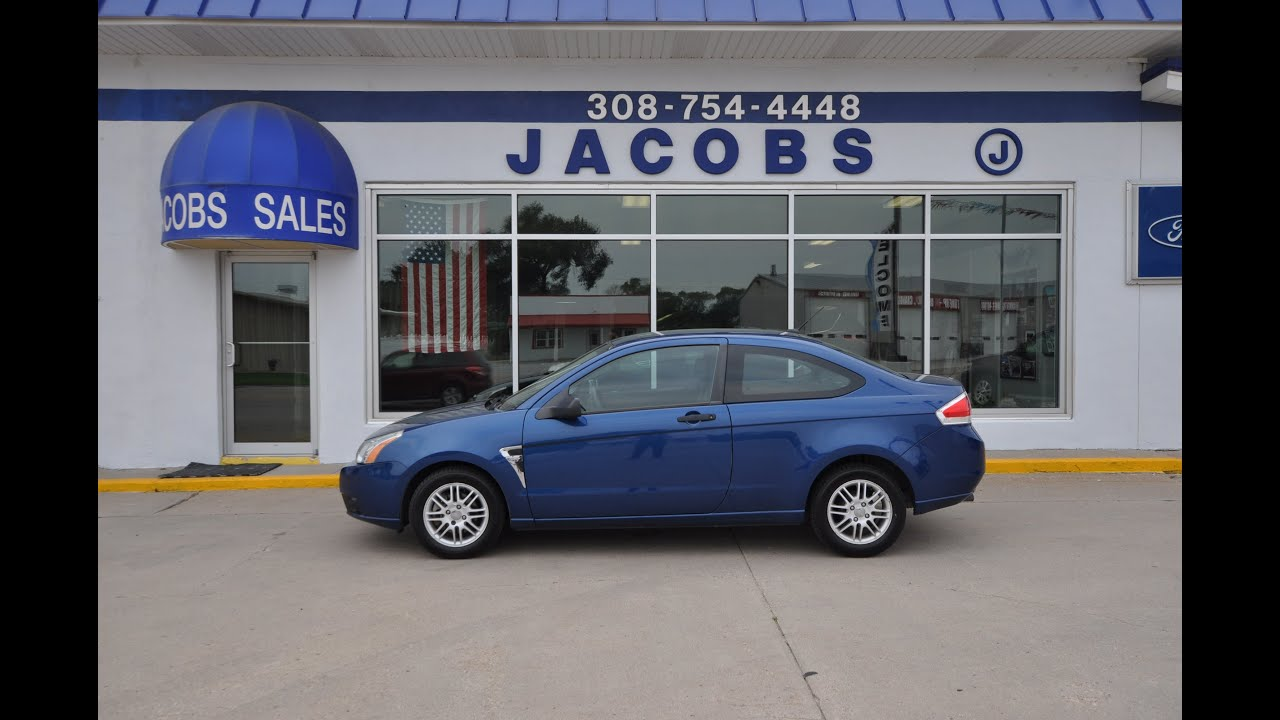 2008 Ford Focus SE 2 door coupe For Sale From Jacobs Ford  YouTube
