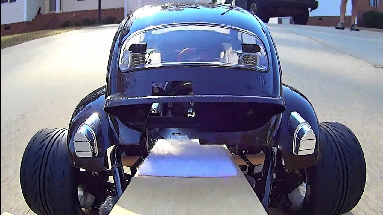Electric Kyosho Baja Beetle Onboard With Front Rear Mounted Cameras You