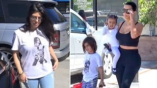 Brunette Kim And Kourtney Kardashian Remain Discreet On Rob And Scott Crises At Dance