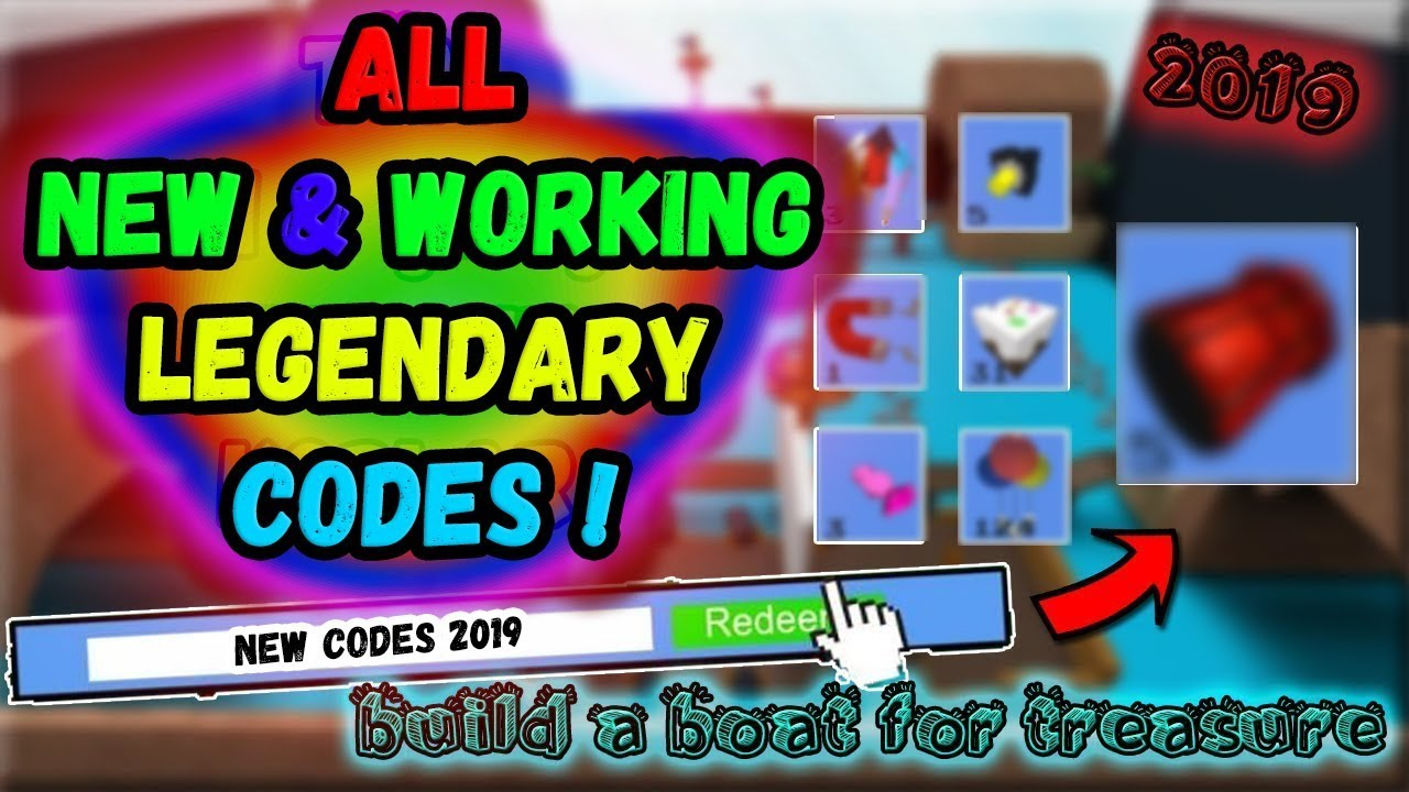 AUGUST 2019 NEW & WORKING CODES !!? / Build a Boat for Treasure / Roblox #1