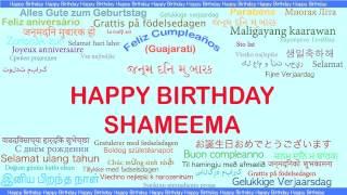 Shameema   Languages Idiomas - Happy Birthday