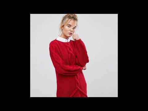 Вязание свитера с косами спицами для женщин