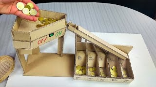 How to make an Automatic Coin Sorting Machine from Cardboard