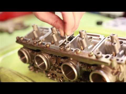 Разборка и промывка карбюраторов на Suzuki Bandit400