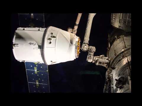 SpaceX Dragon CRS6 Composite Pull in and dock (60x speed)