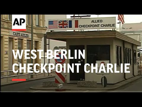 West Berlin Checkpoint Charlie Part 1 - 1989