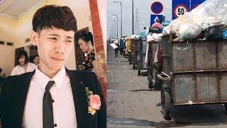 Chú rể kho'c mếu khi thấy cô dâu được rước tới bằng siêu xe chở rác