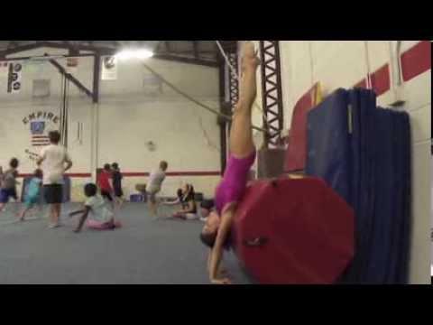 gymnastics handstand drill with barrel  youtube