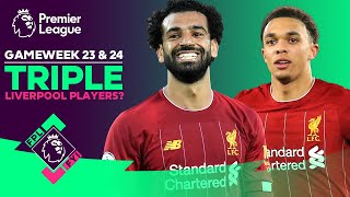 Liverpool vs Manchester United | Triple Liverpool Fantasy Premier League Players? FPL FYI GW 23 & 24