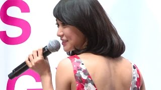 元AKB48で女優の大島優子さんが4月2日、東京都内で行われたカンロのグミ「ピュレグミ」の新CM発表会に登場。新CMでイメージキャラクターを務めている大島さんは、CM ...