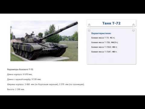 Сколько весит танк т 72