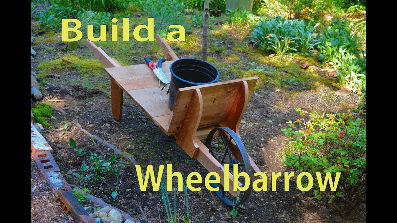 How To Build A Cedar Wood Wheelbarrow / Garden Woodworking