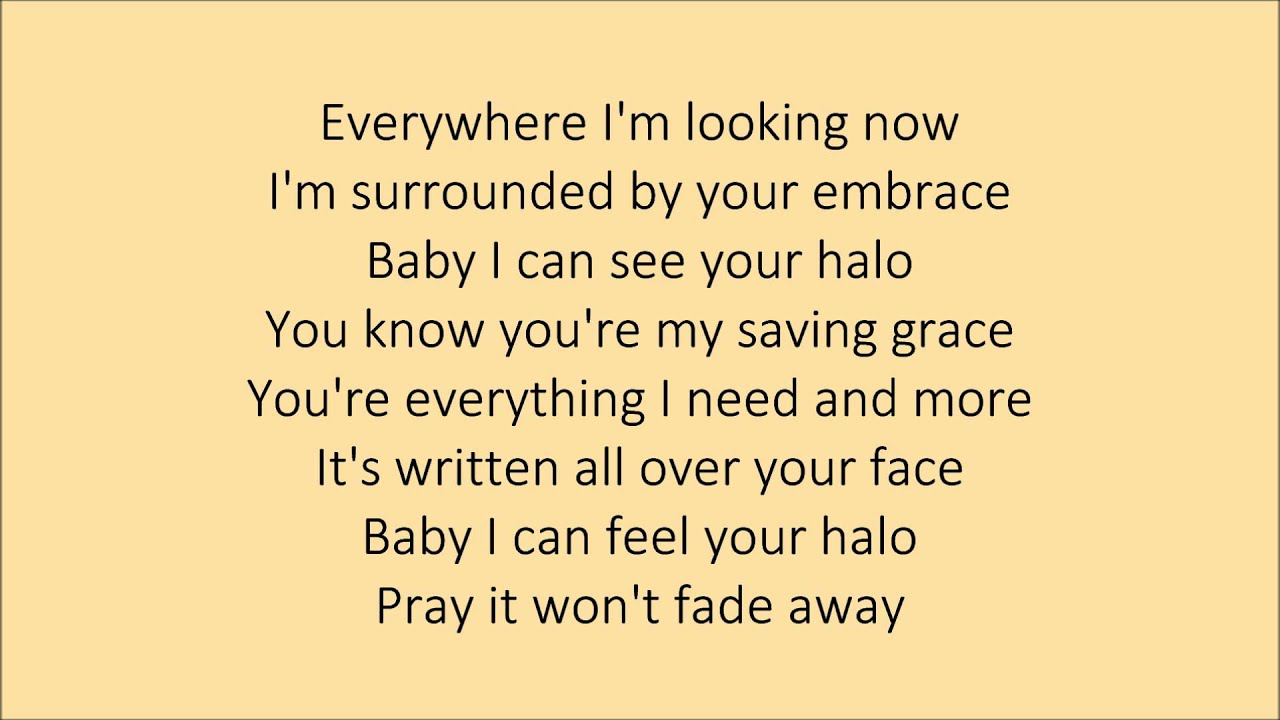 Beyoncé - Halo [with lyrics] - YouTube