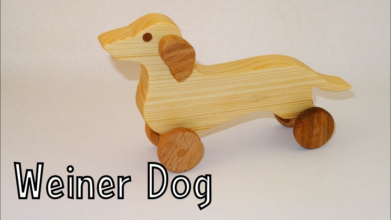 How To Make A Wooden Toy Weiner Dog