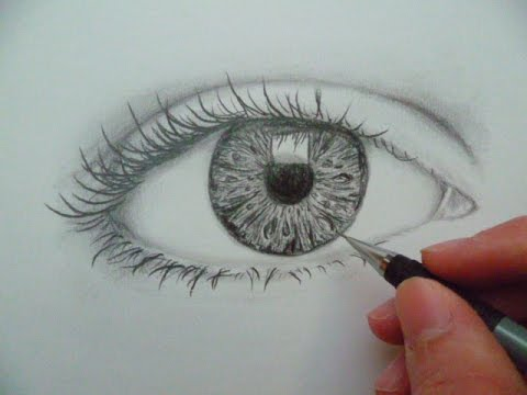 comment dessiner un oeil how to draw an eye youtube. Black Bedroom Furniture Sets. Home Design Ideas