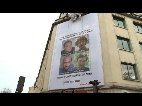 Journée de soutien aux quatre otages français en Syrie