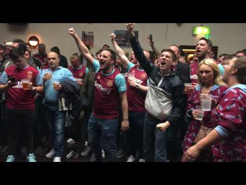 In the Boleyn pub before the final match at Upton Park, West Ham United vs. Manchester united
