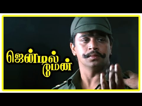 Gentleman Tamil Movie | Scenes | Arjun Steals Money From IG Office | Goundamani | Madhoo