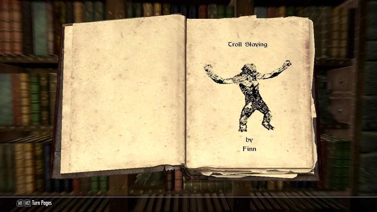 Reading Skyrim: Troll Slaying - YouTube