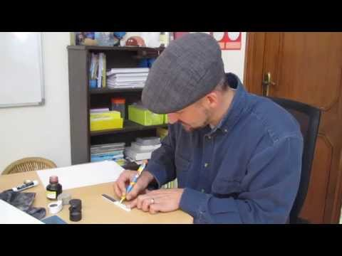 How to smooth a scratchy fountain pen nib
