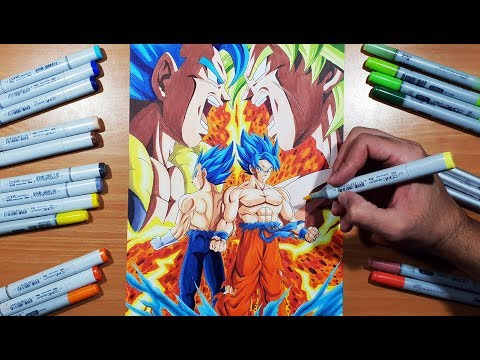 EPIC POSTER ART! Drawing a Dragon Ball Super BROLY Poster!