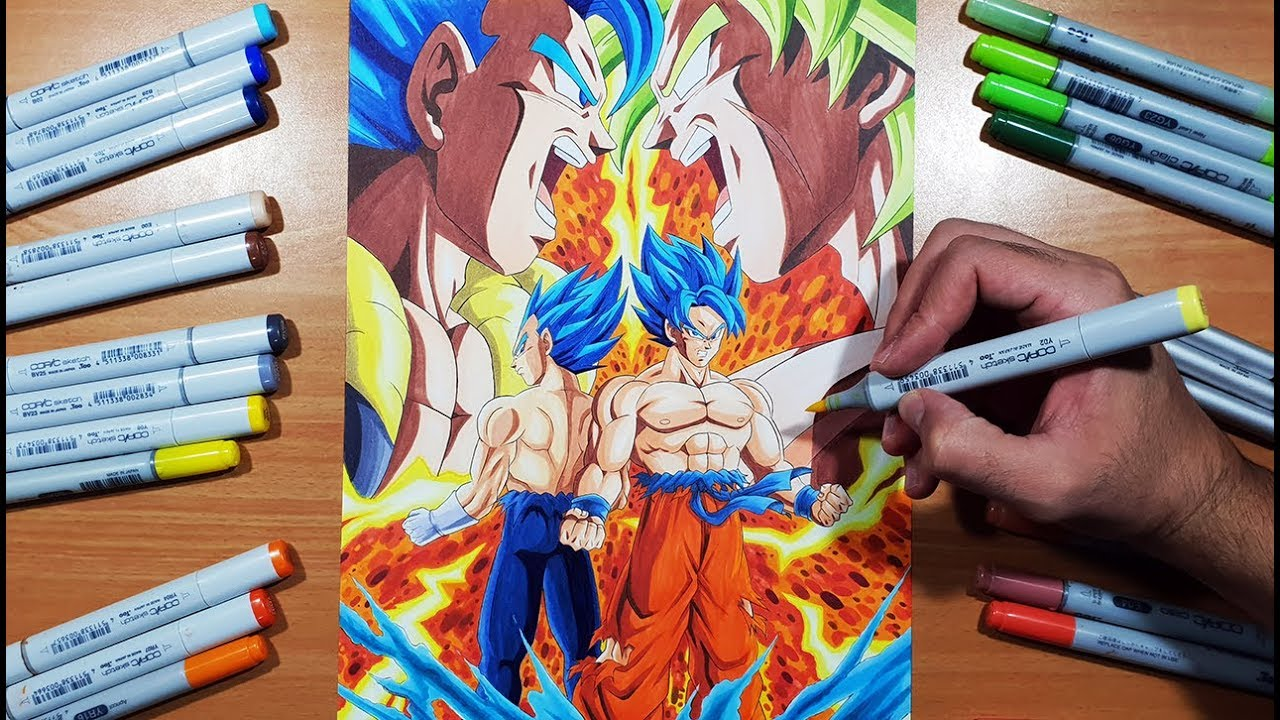 Epic Poster Art Drawing A Dragon Ball Super Broly Poster