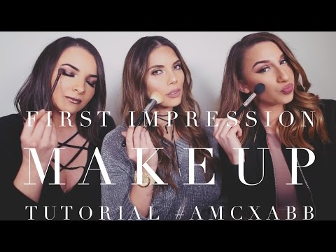 FULL FACE FIRST IMPRESSION MAKEUP TUTORIAL | AMC WITH NAT AND ADRI