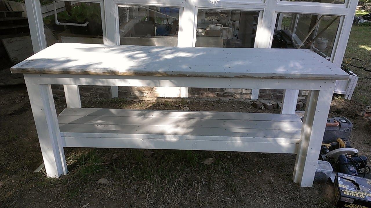 Como hacer una mesa de jardineria con madera reciclada - Como hacer una mesa abatible ...