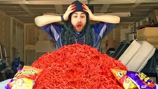 HOT CHEETOS and TAKIS FUEGO CHALLENGE (EXTREME AMOUNT!!)