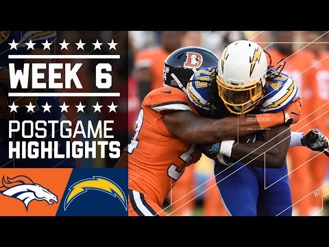 Broncos vs. Chargers | NFL Week 6 Game Highlights