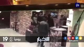 مجهولون يحطمون احد المحال في  محافظة إربد